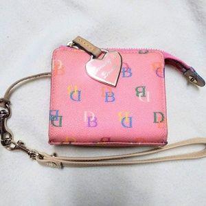 Dooney & Bourke Bags - Dooney & Bourke Pink wallet w/ colorful design EUC
